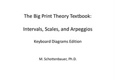 The Big Print Method Theory Textbook: Intervals, Scales, and Arpeggios: The Big Print Method Theory Textbook: Intervals, Scales, and Arpeggios by Michele Schottenbauer