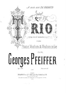 Piano Trio No.2 in D Minor, Op.103: Cello Part by Georges Jean Pfeiffer