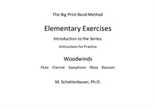 Elementary Exercises. Introduction and Instructions for Practice: Woodwinds by Michele Schottenbauer