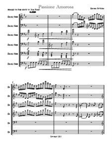 Passione Amorosa: Version for double bass sextet – score by Giovanni Bottesini