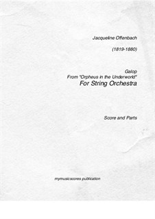 Can-Can: For string orchestra by Jacques Offenbach