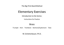 Elementary Exercises. Introduction and Instructions for Practice: Brass by Michele Schottenbauer