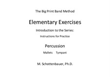 Elementary Exercises. Introduction and Instructions for Practice: Percussion by Michele Schottenbauer