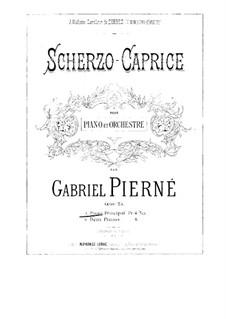 Scherzo-Caprice, Op.25: For two pianos four hands – piano I part by Gabriel Pierné