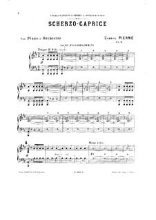 Scherzo-Caprice, Op.25: For two pianos four hands – piano II part by Gabriel Pierné