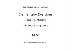 Elementary Exercises. Book VI: Oboe by Michele Schottenbauer
