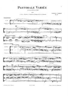 Pastorale variée, Op.30: Full score by Gabriel Pierné