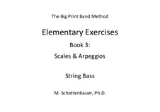 Elementary Exercises. Book III: String bass by Michele Schottenbauer