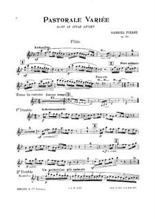 Pastorale variée, Op.30: Parts by Gabriel Pierné