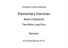 Elementary Exercises. Book VI: Bassoon by Michele Schottenbauer