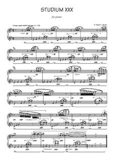 Studium No.30 for piano: Studium No.30 for piano by Peter Petrof