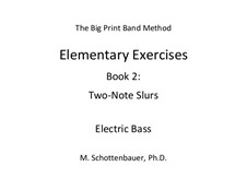 Elementary Exercises. Book II: Bass guitar by Michele Schottenbauer
