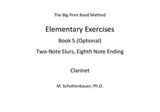 Elementary Exercises. Book V: Clarinet by Michele Schottenbauer