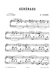 Serenade for Strings, Op.7: Piano score by Gabriel Pierné