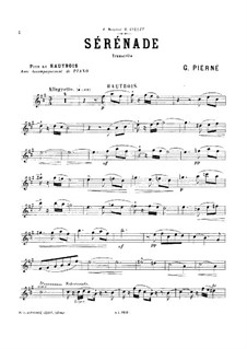Serenade for Strings, Op.7: Version for oboe and piano by Gabriel Pierné