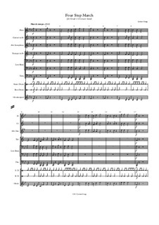 Four Step March (for Grade 1/2 Concert band): Four Step March (for Grade 1/2 Concert band) by Jordan Grigg