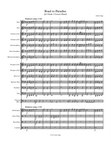 Road to Paradise (for Grade 1 Concert Band): Road to Paradise (for Grade 1 Concert Band) by Jordan Grigg
