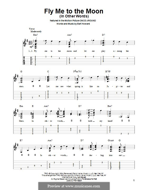 Fly Me to the Moon (In Other Words) by B. Howard - sheet music on ...