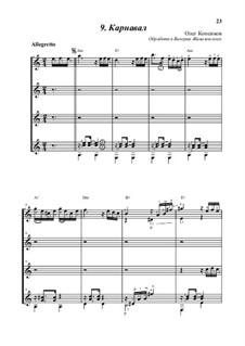 Carnival, Op.5: For four guitars by Oleg Kopenkov