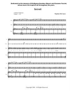 Missa De Profunctis: Full conductor score and parts by Stephen DeCesare