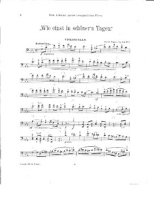 Pieces for Cello and Piano, Op.64: No.1 Once in Fairer Days – solo part by David Popper