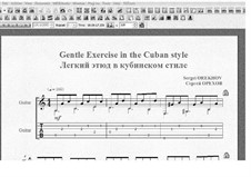 Gentle Exercise in the Cuban style: Gentle Exercise in the Cuban style by Sergei Orekhov