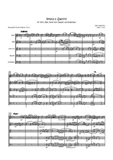 Sonata a Quattro, K.347: For oboe, bassoon, french horn, violin and double bass by Johann Fux