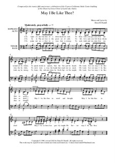 May I Be Like Thee: Hymn arrangement by Dean Hamill