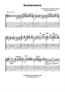 Guantanamera: For guitar with tablature by folklore