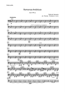 Romanza Andaluza, Op.22: For string orchestra – cello part by Pablo de Sarasate