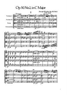 String Quartet No.37 in C Major, Hob.III/45 Op.50 No.2: Full score by Joseph Haydn