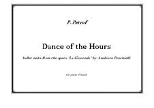 La Gioconda: Dance of the Hours. Arrangement for piano four hands by Amilcare Ponchielli