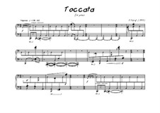 Toccata for piano: Toccata for piano by Peter Petrof
