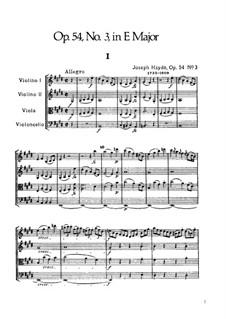 String Quartet No.44 in E Major, Hob.III/59 Op.54 No.3: Full score by Joseph Haydn