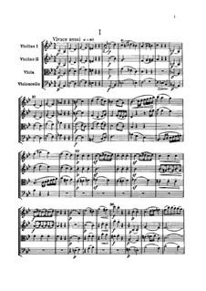 String Quartet No.47 in B Flat Major, Hob.III/62 Op.55 No.3: Full score by Joseph Haydn