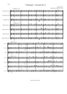 Concerto Grosso No.8: For seven saxophones by Arcangelo Corelli