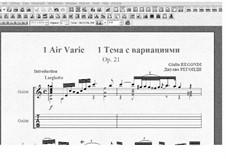 Air varié No.1, Op.21: For guitar by Giulio Regondi