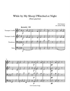 While By My Sheep: For brass quartet by folklore