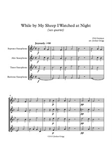 While By My Sheep: For saxophone quartet by folklore