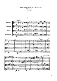String Quartet No.59 in G Minor 'Rider', Hob.III/74 Op.74 No.3: Movement I by Joseph Haydn