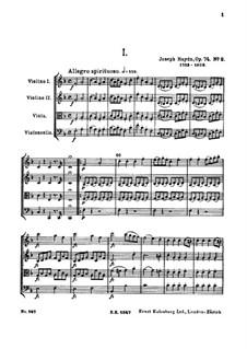 String Quartet No.58 in F Major, Hob.III/73 Op.74 No.2: Full score by Joseph Haydn