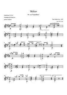 Thirty-Six Original Dances, D.365 Op.9: No.1 Waltz, for guitar by Franz Schubert