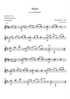 Thirty-Six Original Dances, D.365 Op.9: No.3 Waltz, for guitar by Franz Schubert