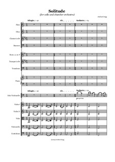 Solitude: For cello and chamber orchestra by Jordan Grigg
