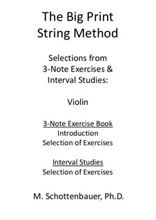 Selections: From 3-Note Exercises & Interval Studies: Violin by Michele Schottenbauer