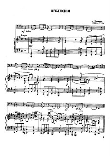 Prelude, for Trombone and Piano: Prelude, for Trombone and Piano by Arcangelo Corelli