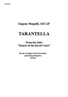 Tarantella: For trumpet-piccolo, strings and percussion – score by Eugene Magalif