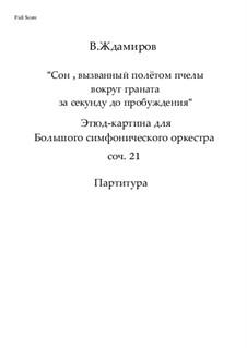 Сон, вызванный полётом пчелы вокруг граната, за секунду до пробуждения. Этюд-картина для Большого симфонического оркестра, Op.21: Сон, вызванный полётом пчелы вокруг граната, за секунду до пробуждения. Этюд-картина для Большого симфонического оркестра by Victor Zhdamirov