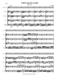 Concerto for Cello and Strings in A Minor, RV 419: Concerto for Cello and Strings in A Minor by Antonio Vivaldi