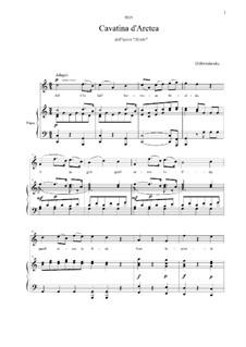 Alcido: Ah che fai? Tarresta, Alcide, for voice and piano by Dmitry Bortnianski